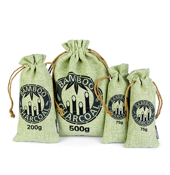 Linen Bamboo Carbon Bags( Green&Rope )