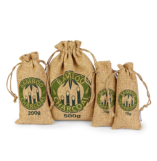 Linen Bamboo Carbon Bags( Brown&Rope )